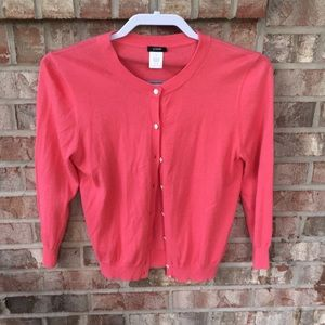 J Crew coral pink cardigan Size S